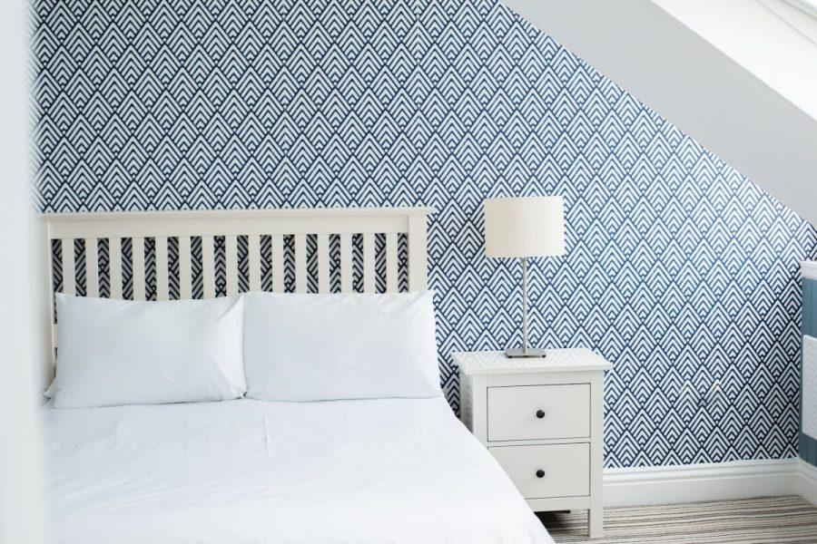 Coastal Bedroom with Bed
