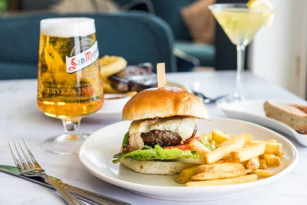 Burger with Pint