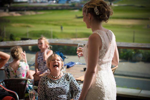 Bride on Terrace
